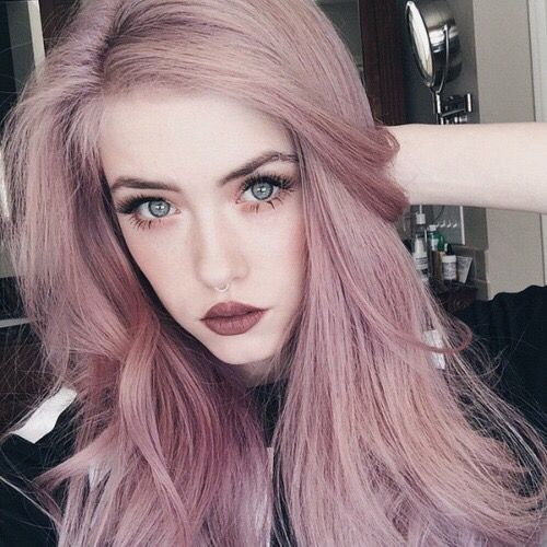 "Dusty Rose Dull Faded Pink Hair ""Pinterest: @oliviajacquelyn"""