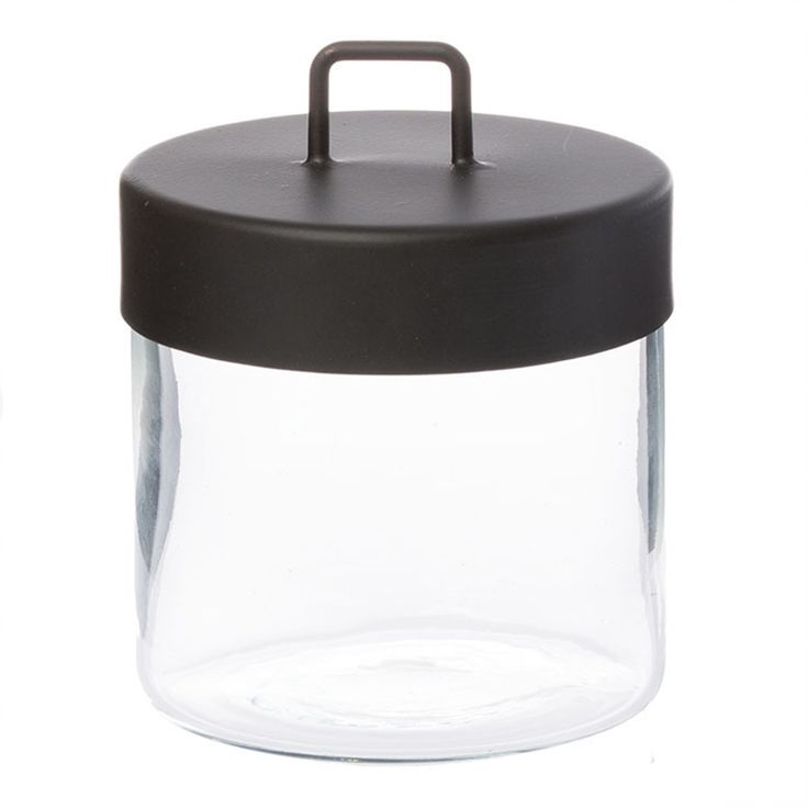 Zakkia medium canister black glass - Shop it now - $32.95  www.peppapenny.com  Shop 3, 1642 Anzac Ave, North Lakes, QLD 4509