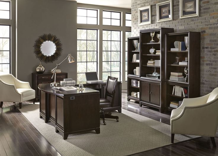 Furniture Desks Home Office Credenza Table. Viewscape L Shaped Desk Set | Aspen  Home Gallery