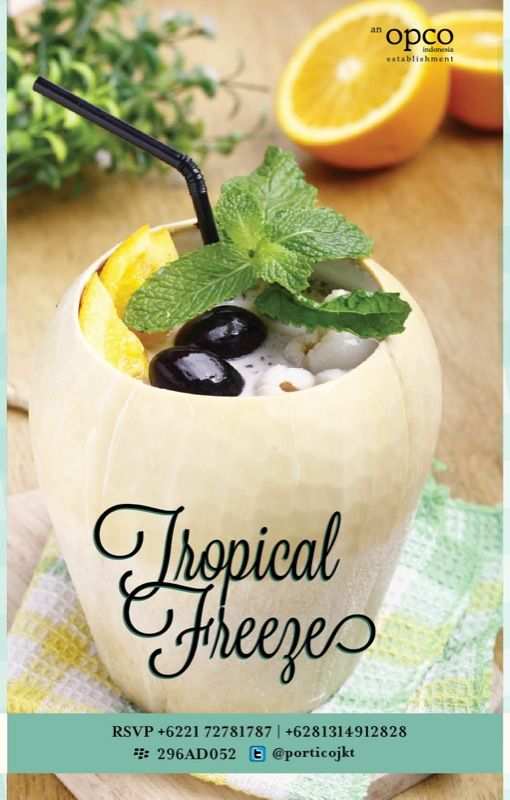 Try this one of the special Ramadhan menu from Portico Terrace and Bistro, Tropical Freeze! Only available through Ramadhan month. Try it!