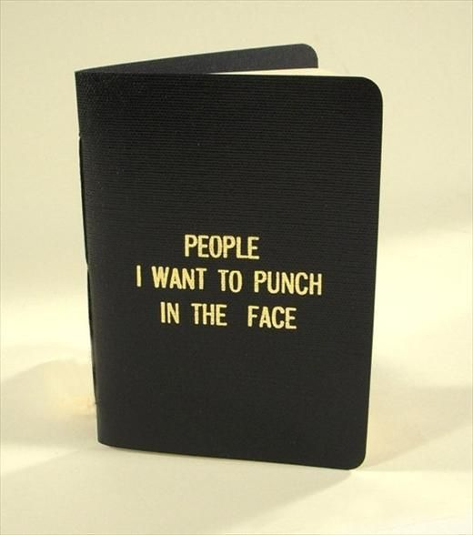 I need this little black book!: Punch, Humor Books, Little Black Books, Gifts Ideas, The Faces, Funny, Books Gifts, Burning Books, People