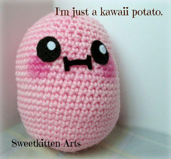 Amigurumi Kawaii Patrones : Cuddly Kawaii Potato Amigurumi https://www.etsy.com ...
