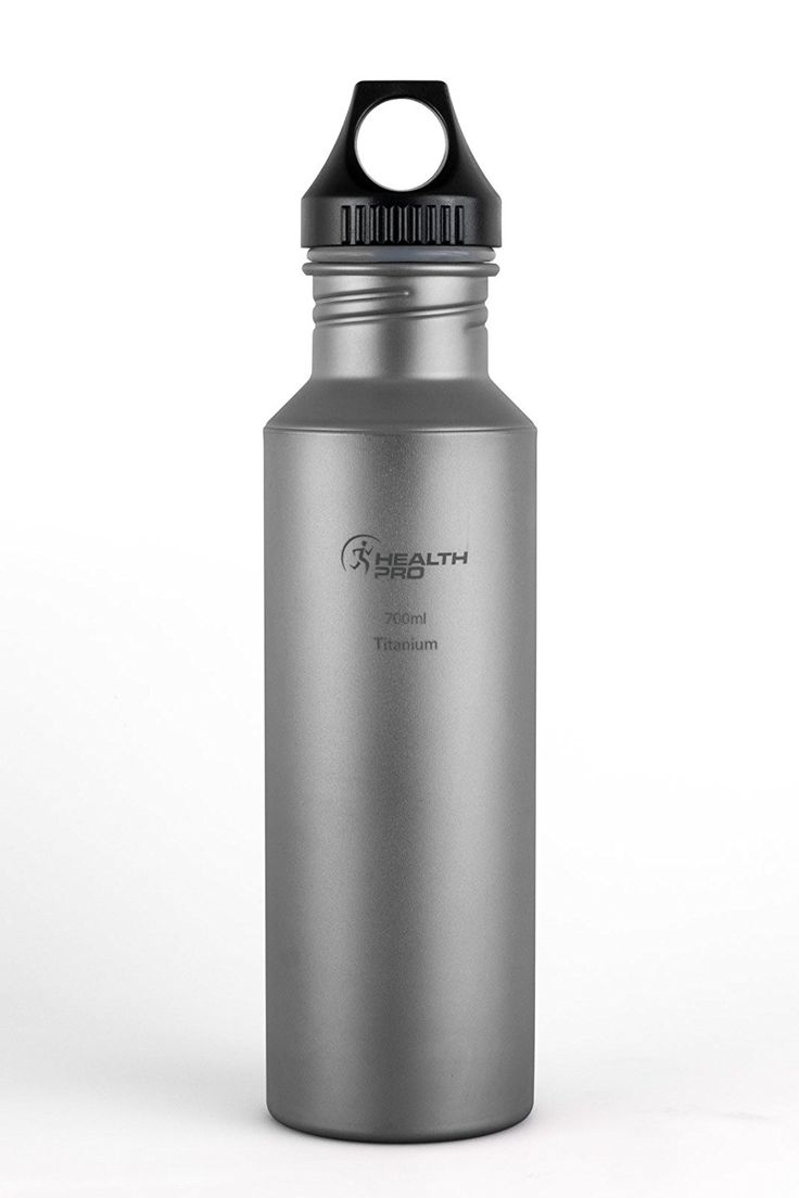 Healthpro Titanium Lightweight Super Strong BPA-Free Water Bottle (24-Ounce) -- Click image to review more details.