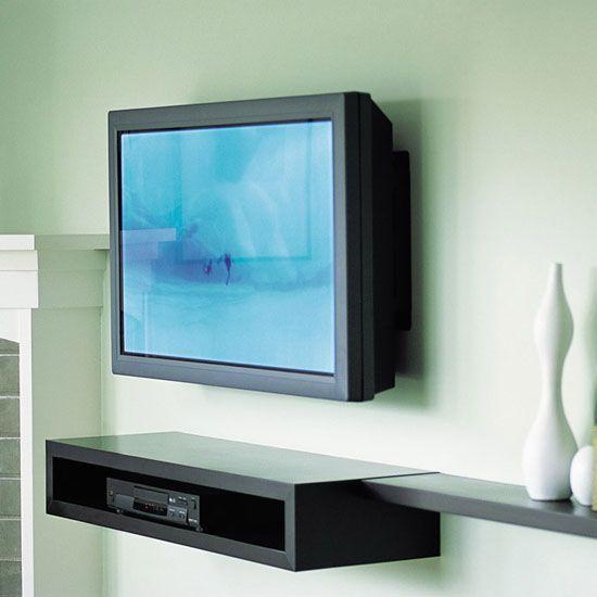 8 best media shelf images on pinterest shelving for Best tv to hang on wall