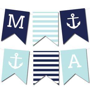 Free Printable Nautical Banner #wedding #printable #freeprintable