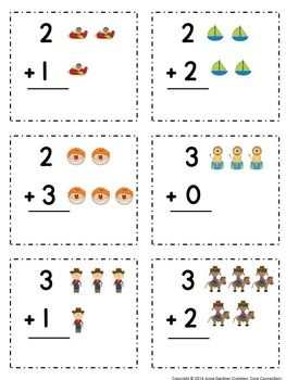addition and subtraction flashcards within five full picture support provided. Black Bedroom Furniture Sets. Home Design Ideas
