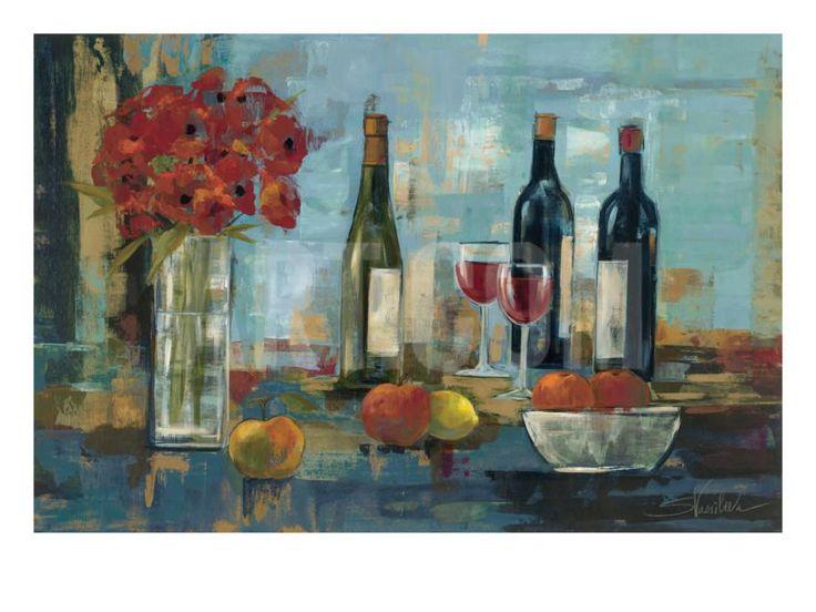 Fruit and wine framed wallframed artworkwine