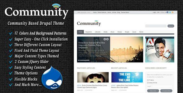 Community Drupal Theme