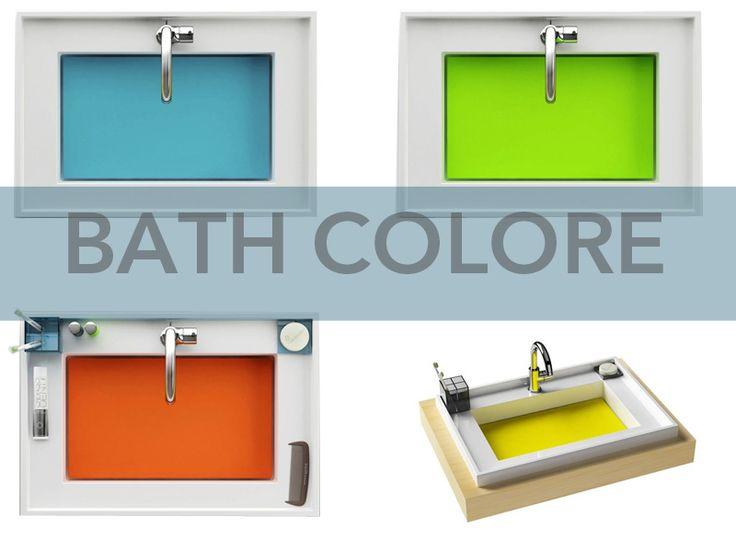 Des lavabos colorés pour égayer la salle de bain !