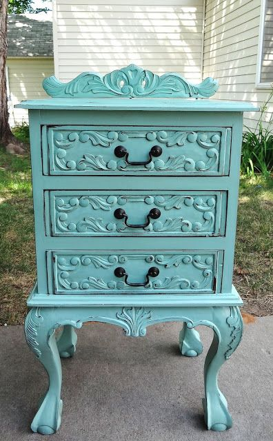Gorgeous nightstand makeover!