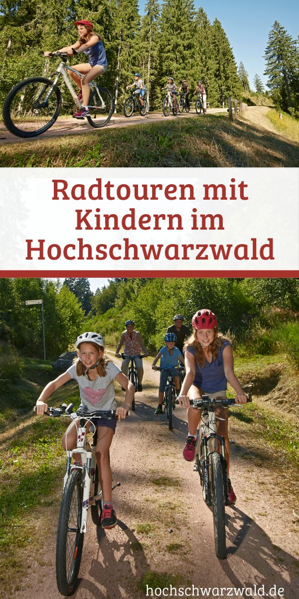Entdecken Sie den Schwarzwald mit der ganzen Familie auf zwei Rädern. Auf kinderfreundlichen Radtouren können Jung und Alt die schöne Landschaft der Schwarzwälder Region genießen.
