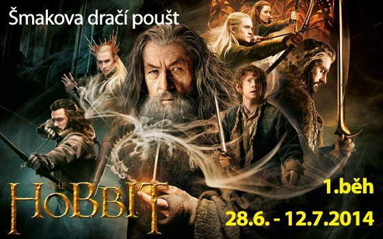 Hobit: Šmakova dračí poušť  Chceš zažít pořádné dobrodružství, než znovu zasedneš do školních lavic? Máš jedinečnou příležitost sledovat cestu Bilbo Pytlíka, nebojácného Hobita, za ztraceným trpasličím královstvím Skaliny. Jeho odvážnou cestu budeš prožívat společně s ním, ale také s čarodějem Gandalfem Šedým, legendárním bojovníkem Thorinem a Glumem.