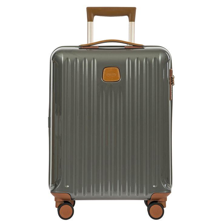 Bric's Capri 21 International Carry on Spinner, Grey Shiny