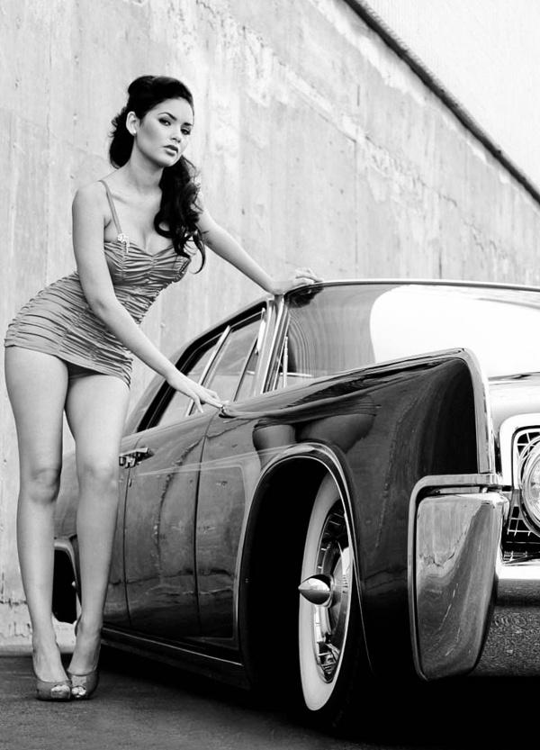 D Ecc E E Bb C A Dd Ff Pin Up Girls Car Girls on Lincoln Continental 63