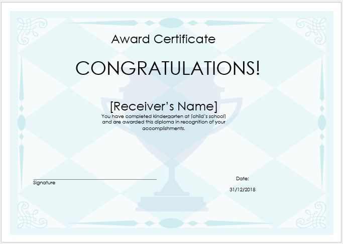 10  winner certificate templates