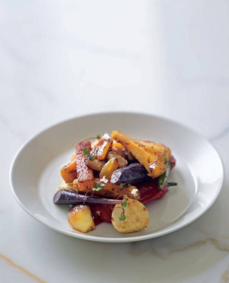 Spiced roasted root vegetables recipe from New Middle Eastern Food by Greg Malouf | Cooked