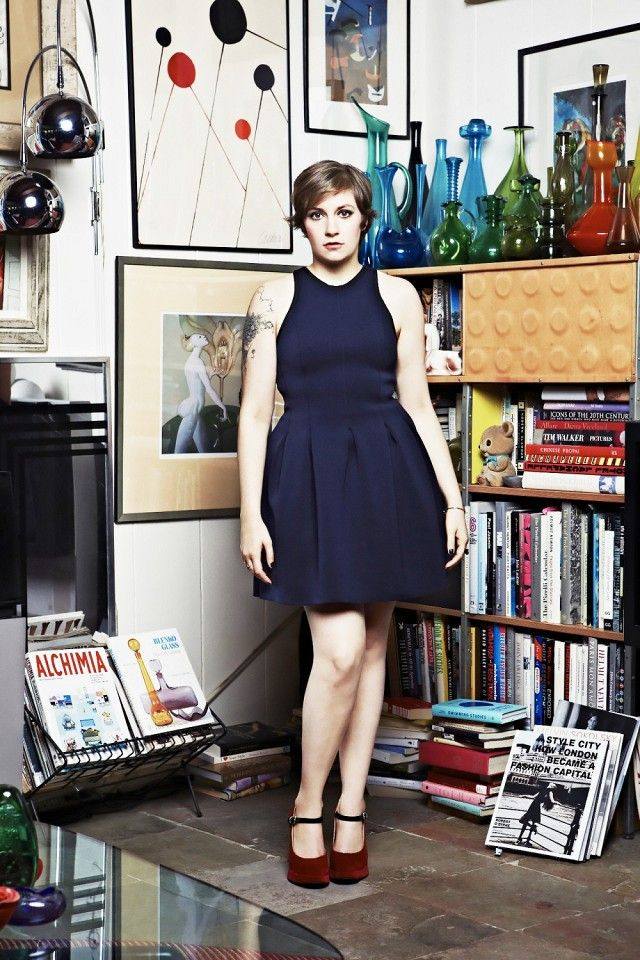 Because she's chopping up Hollywood's beauty standards. Lena Dunham