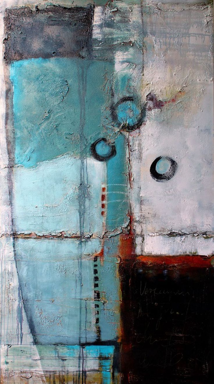 abstrakte Malweise in Mischtechnik - Claudia Geil