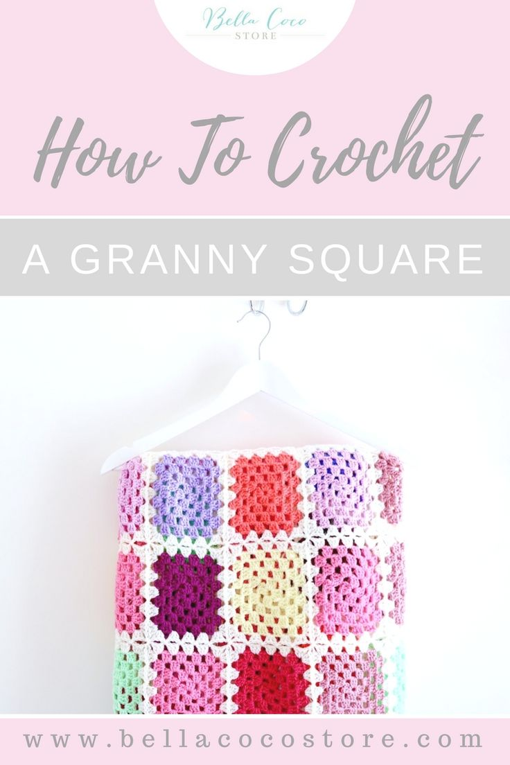 How to crochet a granny square | Tutorial | Video tutorial