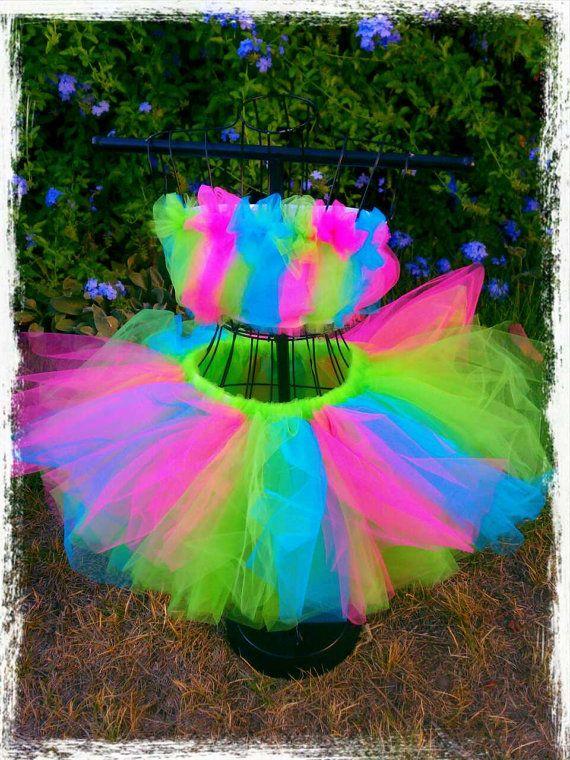 Adult Tutu rave tutu raver tutu neon tutu gogo dancer by TutuHot, $75.00