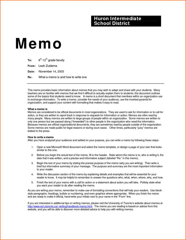 How To Write A Business Memo  Hlwhy