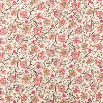 Busy Bees & Flowers Cotton Calico Fabric