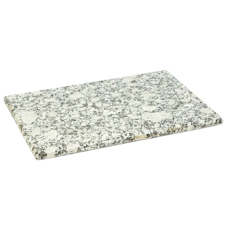 "Sweet Home Collection Granite Cutting Board (8""x12"") White (Stone)"