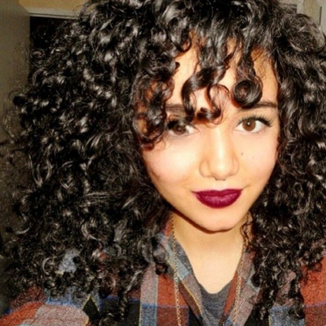 Curly Hair Styles With A Fringe : 270 best curly 3b hairstyling tips & ideas images on pinterest
