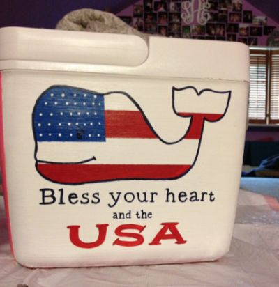 HCM's Fraternity Formal Cooler Tutorial - I can make one for the beach and ball games with our family brand :)