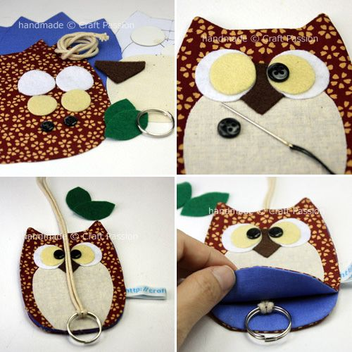 My Owl Barn: DIY: Owl Key Chain And Holder