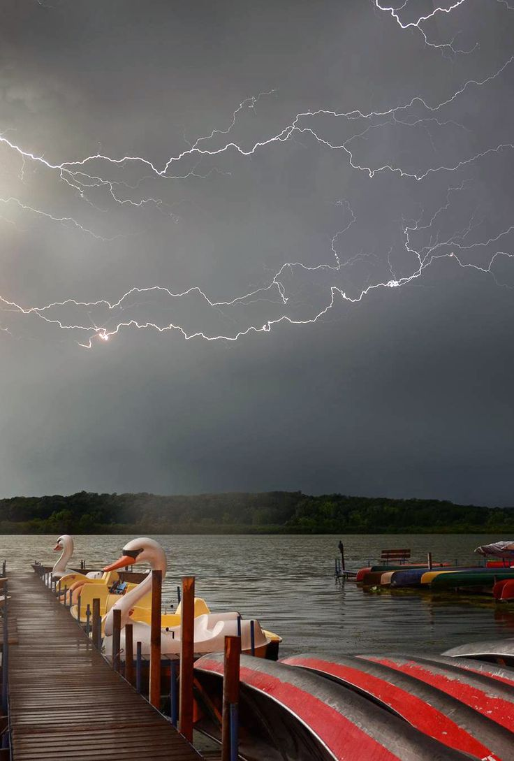 lightning storm over Lake Wingra | Madison, Wisconsin