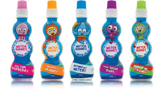 Water Buddies - Parents will love the No Junk Promise and less than 2% Sugar.