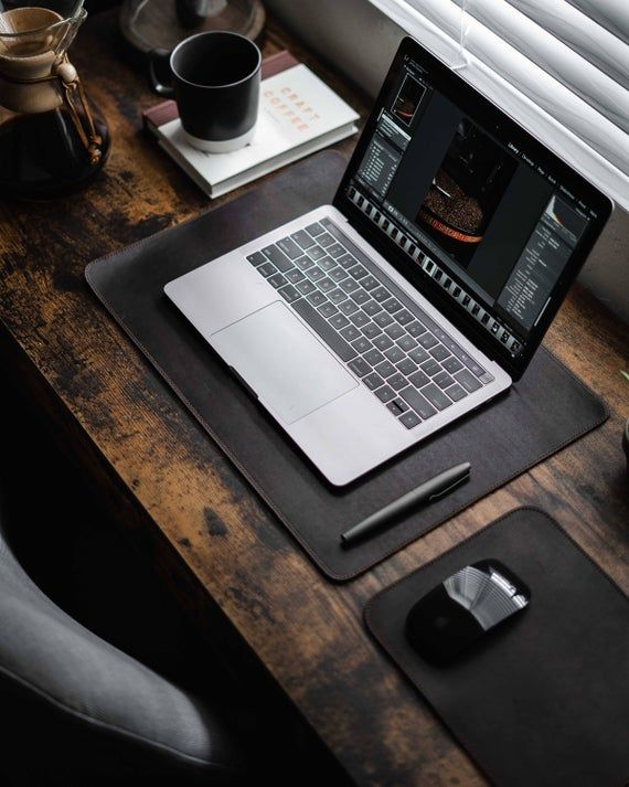 Leather Desk Pad Table Placemats Desk Mat Table Etsy In 2020 Leather Desk Pad Leather Mouse Pad Leather Desk