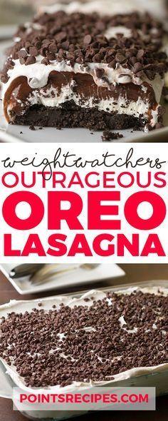 Outrageous Oreo Lasagna (Weight Watchers SmartPoints)