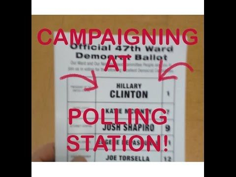 PROBLEMS ALREADY -- Hillary Clinton Handout and Machines not working at polling place in Philadelphia PA - 4/26/2016 Democratic Primary - Bernie Sanders At my voting location, w...