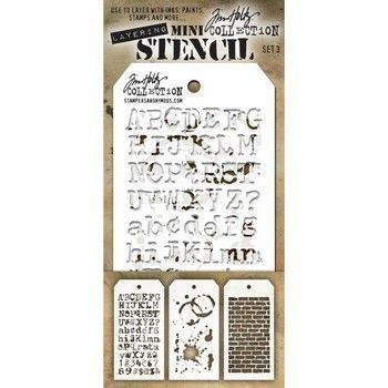 Tim Holtz Stencil Set 3