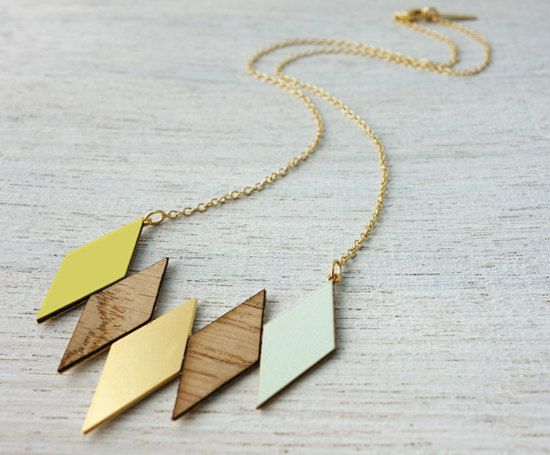 Oslo Necklace, geometric necklace, signature necklace, Scandinavian design on Etsy, $69.00