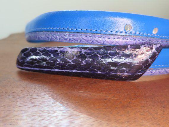 Purple Snake Skin High Quality Fashion Dress Belt