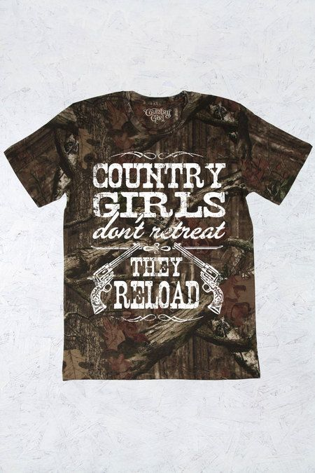 Women's Country Girl® Reload Mossy Oak® Camo Tee | 5.5 oz., Officially Licensed MOSSY OAK 100% ringspun cotton print jersey