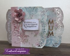 Card for mum made using Sara Signature Shabby Chic Collection –  Designed by Susanne Lovering #crafterscompanion