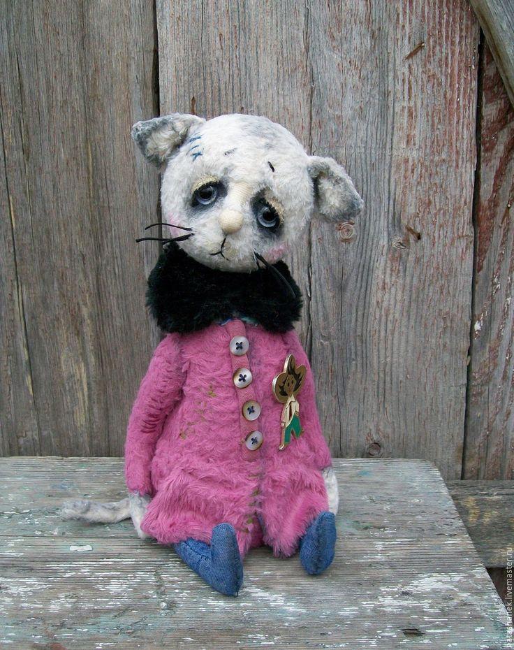 Купить Поленька. котенок тедди котик тедди - розовый, тедди мишка, котенок тедди