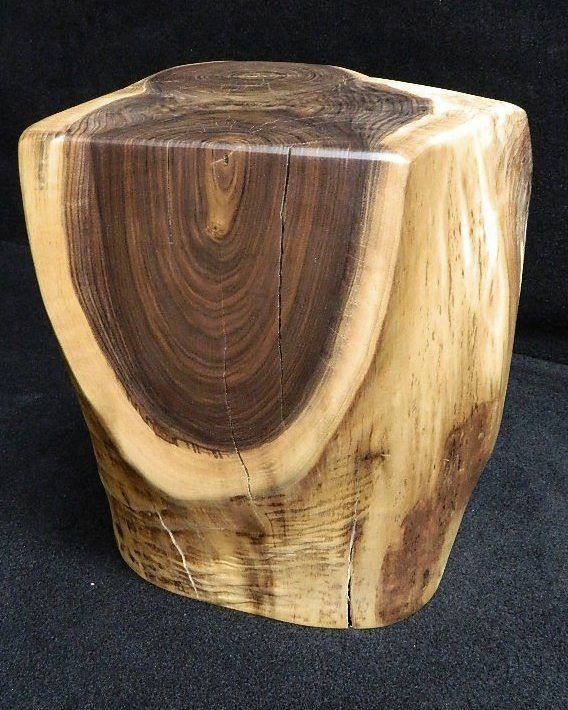 log end table | Details about Live Edge Black Walnut Stump Stool End ...