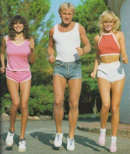 70s Fashion for Girls   70s exercise clothes   JoggingJeans