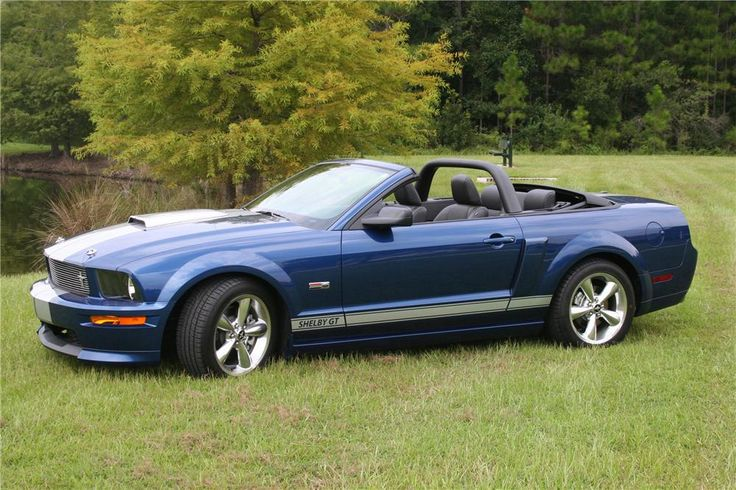 2008 Ford Shelby Gt Mustang Convertible Cars Pinterest