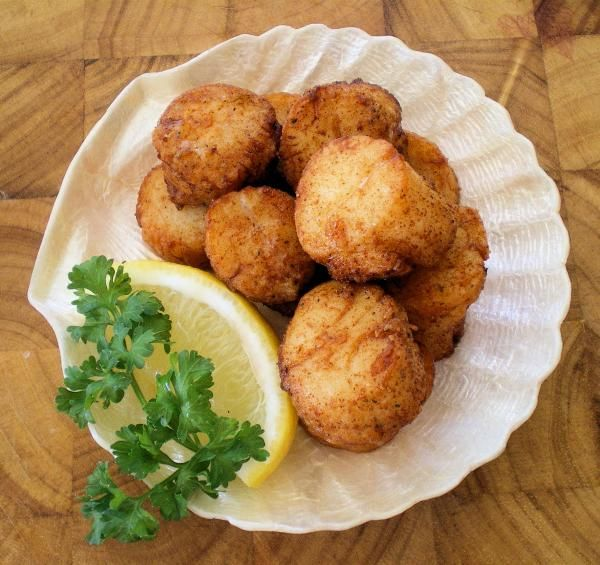 Fried Scallops For Four Recipe Seafood Recipes And Yum