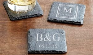 A useful and meaningful gift, these coasters protect tables from beverages while bearing a special personalized design