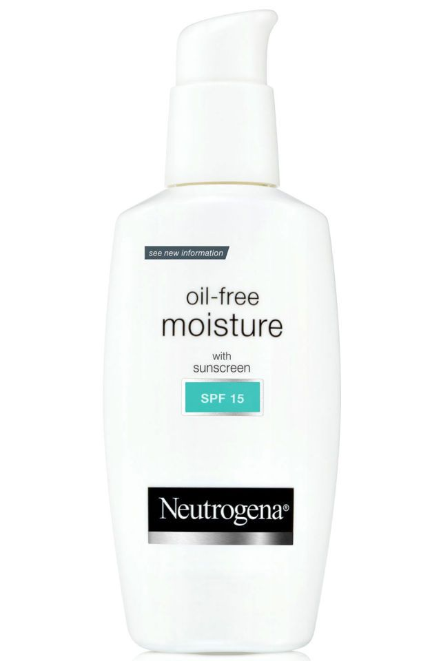 9 Moisturizers ELLE Editors Swear By - Super Worth It - Neutrogena oil-free moisture with sunscreen SPF15 $10.99