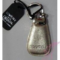 Lewitzky arany  bőr kulcstartó swarovszkival