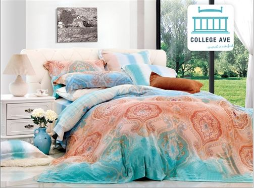 florid meld twin xl comforter set college ave designer series