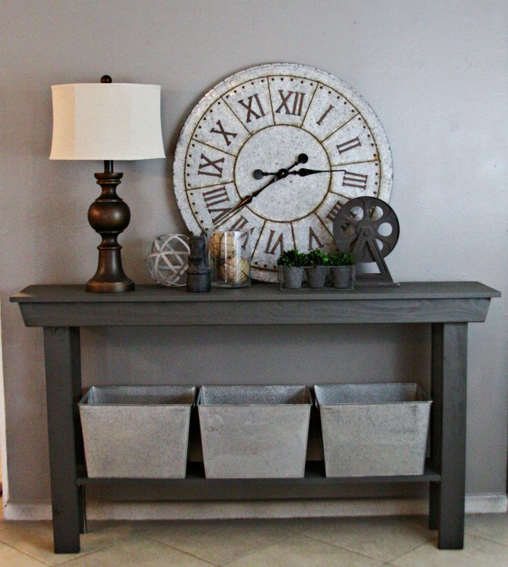 This listing is for one custom farmhouse entry table sized 6 foot long, 12 1/2 inches deep and 32 inches high. It is professionally finished in Sherwin Williams - Urban Bronze which is a gorgeous dark gray perfect color to go in any room. A clear coat finish is applied after paint to protect your entry table for years to come.  Each table is custom handcrafted, made of real wood that is hand selected from our local lumber yard and custom made in our small workshop in central Texas. Your…